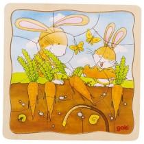 Viacvrstvové puzzle zajac