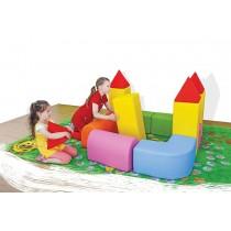 Rozkladací molitanový hrad