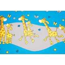 Detská obliečka - žirafa modrá