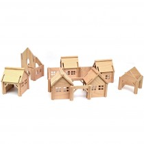 Drevená stavebnica - dedina