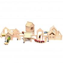 Drevená stavebnica -...