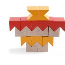 Drevená stavebnica 3D oranžová