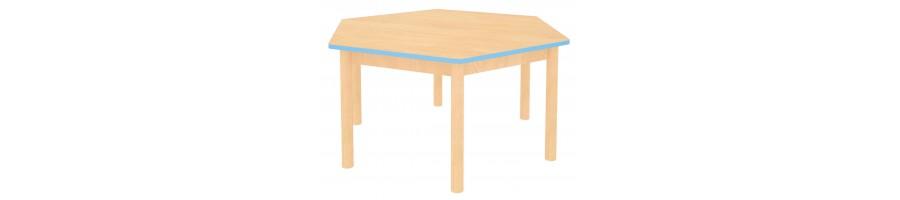 Stoly s farebnou hranou